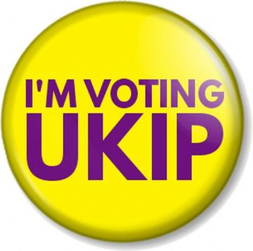 I'M VOTING UKIP Pinback Button Badge Election Political UK Independence Party Vote Politics
